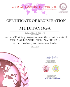 nemzetközi jógaoktatói oklevél